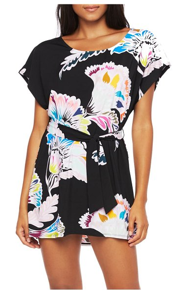 Trina Turk seychelles floral cover-up tunic in mlt