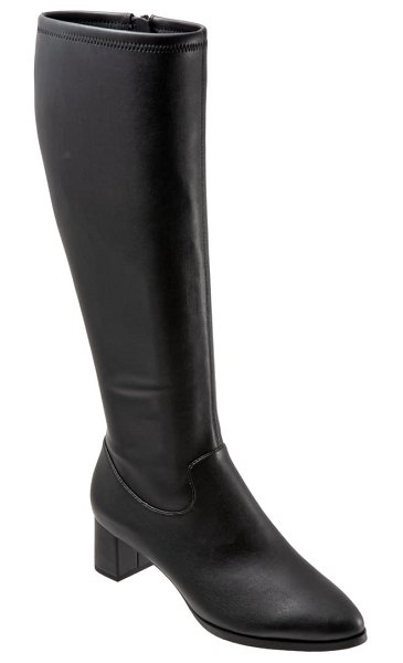 Trotters kacee boot in black faux leather