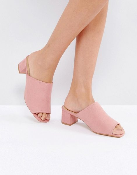 "TRUFFLE COLLECTION Kitten heel Mule Sandal - """"Shoes by Truffle, Textile upper, Slip-on style, Open toe,..."