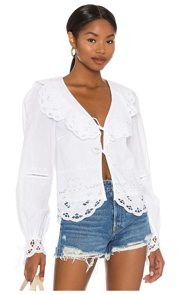 Tularosa colleen top in white