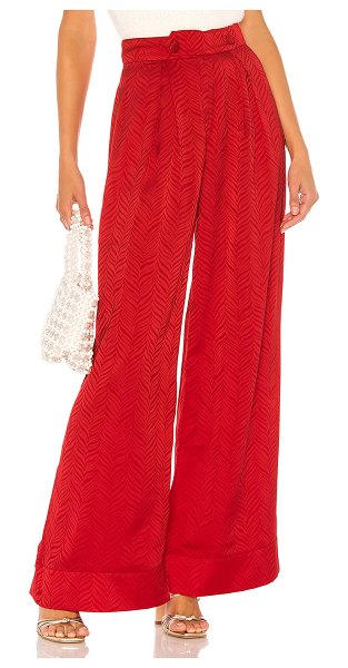 Tularosa molly pant in red