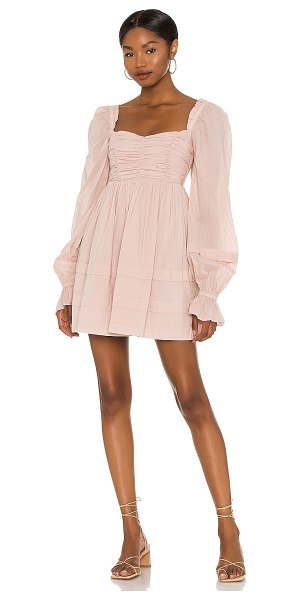 Tularosa oakland dress in shadow pink