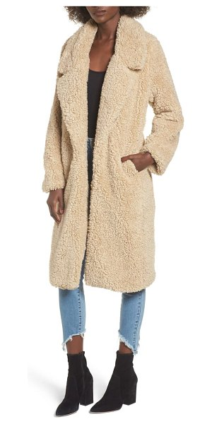 Tularosa violet teddy bear coat in beige - What better to throw over your shoulders when the...
