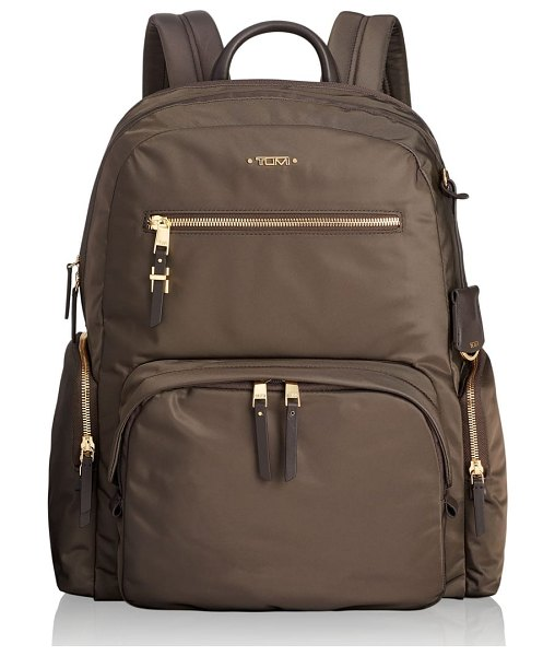 Tumi voyager carson nylon backpack in mink - A backpack that has thought of everything, this nylon...