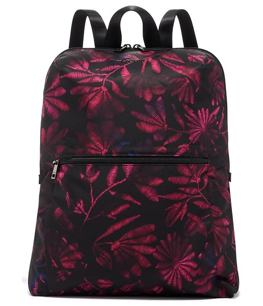 Tumi voyageur just in case nylon backpack in floral tapestry
