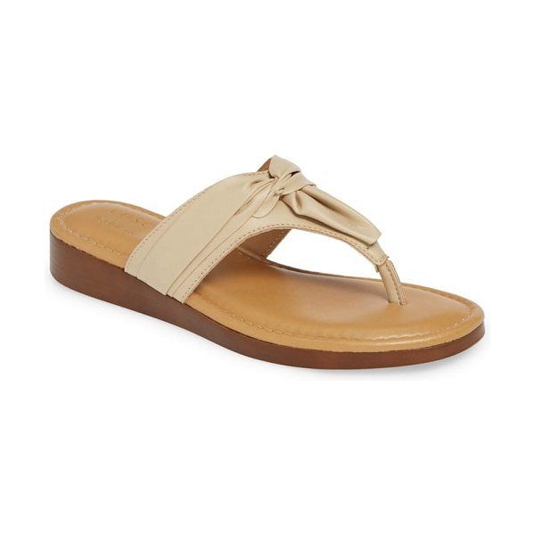 TUSCANY by Easy StreetR tuscany by easy street maren flip flop in beige - A gathered detail at the thong strap puts a stylish...