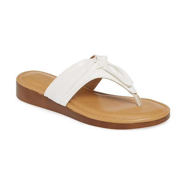 TUSCANY by Easy StreetR tuscany by easy street maren flip flop in white leather - A gathered detail at the thong strap puts a stylish...