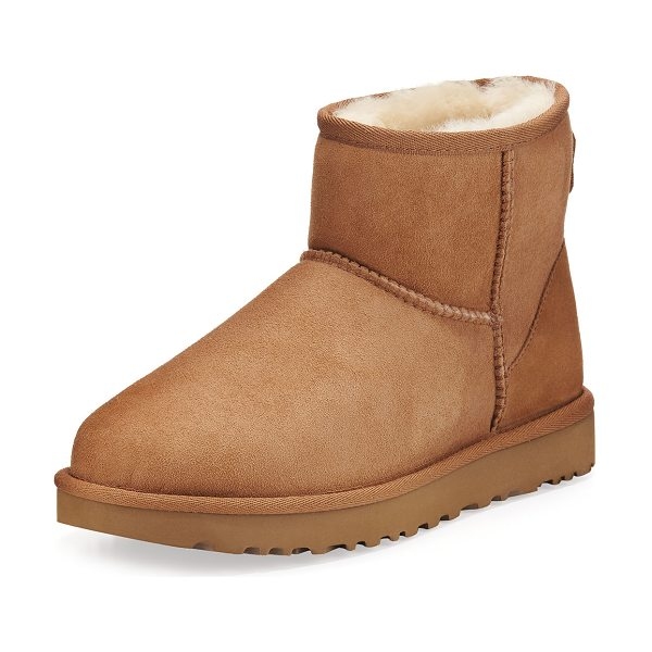 UGG Classic Mini II Boot in chestnut - UGG twin-face sheepskin and suede boot, pre-treated to...