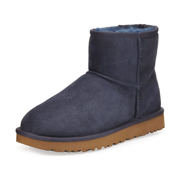 UGG Classic Mini II Boot in navy - UGG twin-face sheepskin and suede boot, pre-treated to...