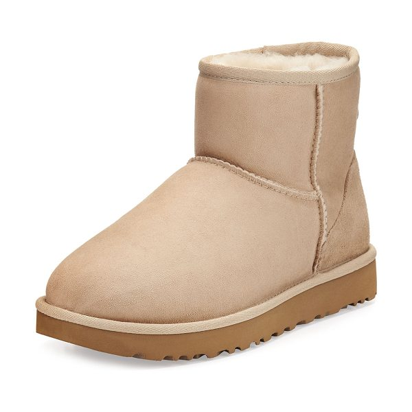 UGG Classic Mini II Boot in sand - UGG twin-face sheepskin and suede boot, pre-treated to...