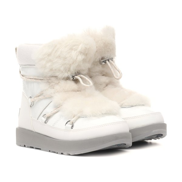 UGG highland waterproof ankle boots in white