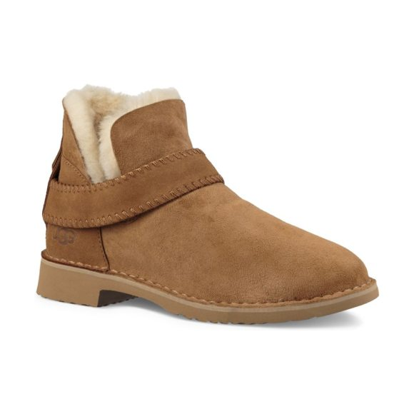 UGG mckay sheepskin-lined suede ankle boots in black,chestnut