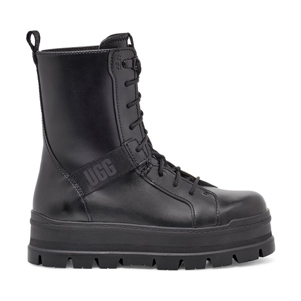 UGG sheena leather combat boots in black