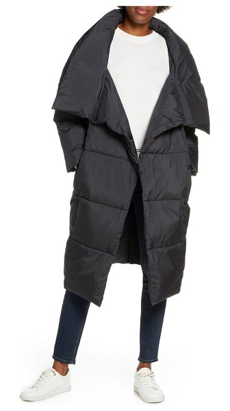 UGG ugg catherina water resistant hooded puffer coat in black