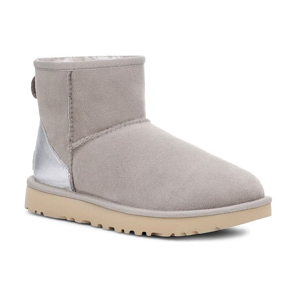 UGG ugg classic mini ii genuine shearling lined boot in goat suede