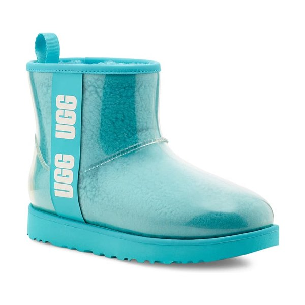 UGG ugg classic mini waterproof clear boot in clear water