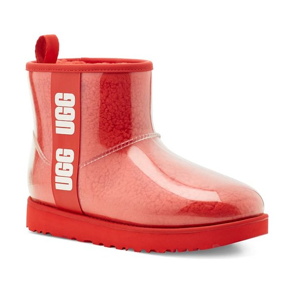 UGG ugg classic mini waterproof clear boot in lava flow
