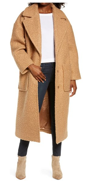 UGG ugg hattie long faux fur coat in camel