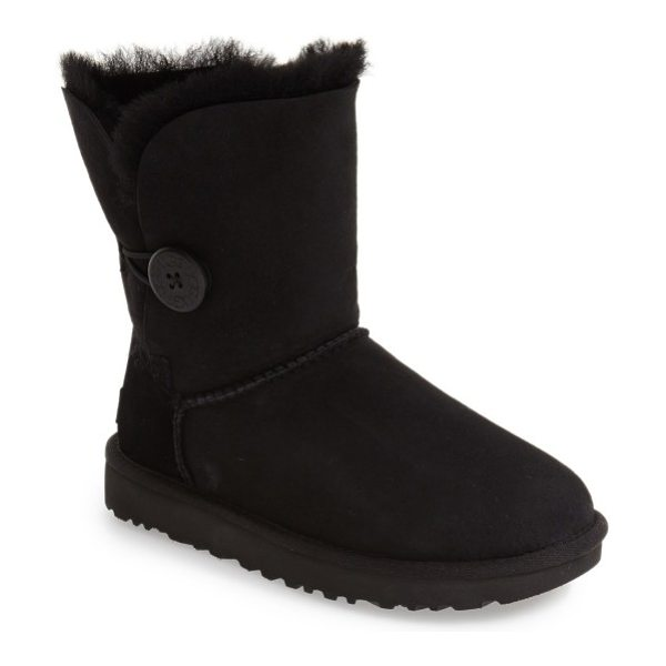 UGG ugg bailey button ii boot in black suede