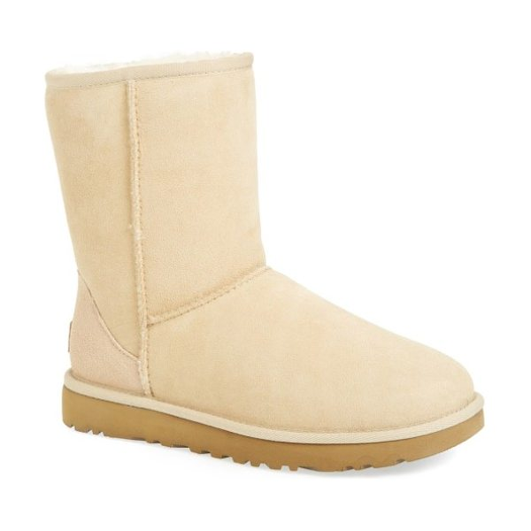 UGG ugg classic ii genuine shearling lined short boot in navy suede