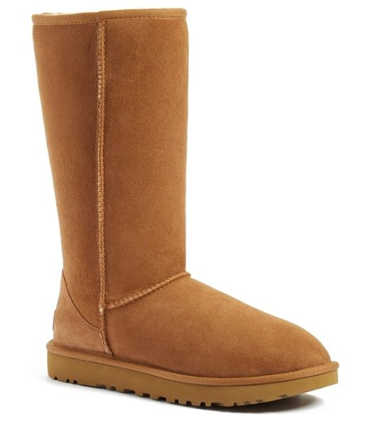 UGG ugg classic ii genuine shearling lined tall boot in chestnut suede