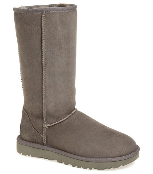 UGG ugg classic ii genuine shearling lined tall boot in grey suede