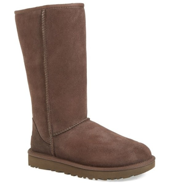 UGG ugg classic ii genuine shearling lined tall boot in chocolate suede