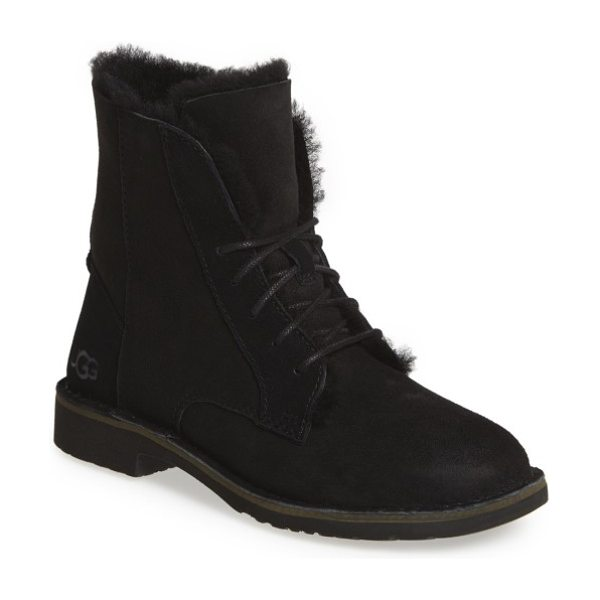 UGG ugg quincy boot in black suede