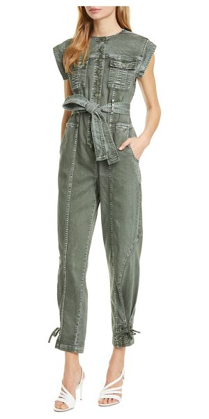 Ulla Johnson adair stretch cotton jumpsuit in army