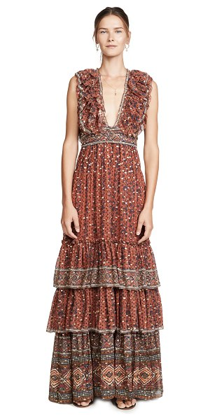 Ulla Johnson adelina gown in brick