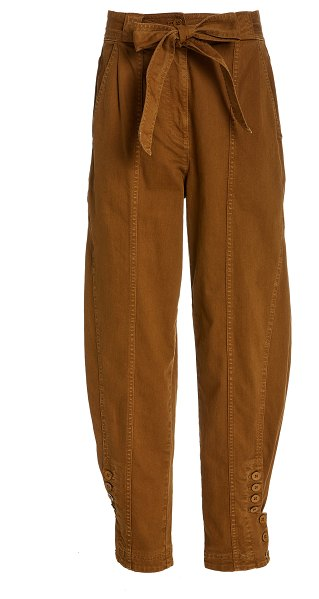 Ulla Johnson carmen belted mid-rise jeans in neutral