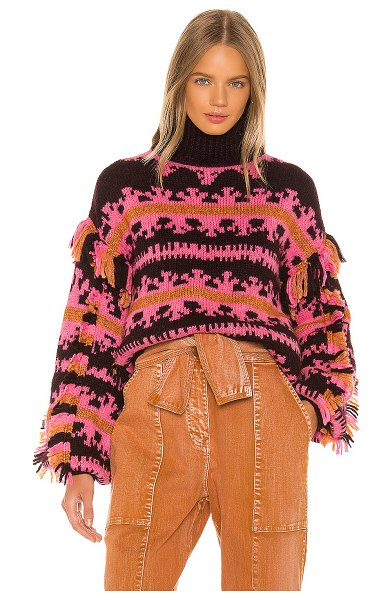 Ulla Johnson lubina pullover in fuchsia