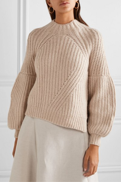 Ulla Johnson lucille ribbed alpaca-blend sweater in beige