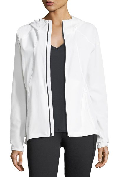 Under Armour Outrun The Storm Zip Front Hooded Performance Jacket In