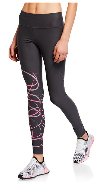 "Under Armour Vanish Printed Performance Leggings in gray/purple - Under Armour ""Vanish"" leggings with graphic at right..."