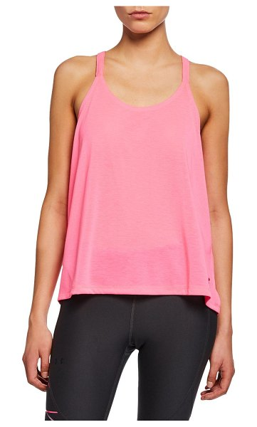 "Under Armour Whisperlight Fold-Over Racerback Tank in pink - Under Armour ""Whisperlight"" ultra-soft performance tank..."