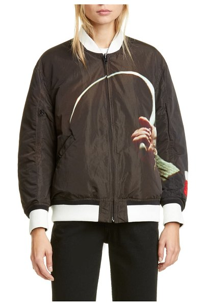 Undercover suspiria reversible bomber jacket in a brown