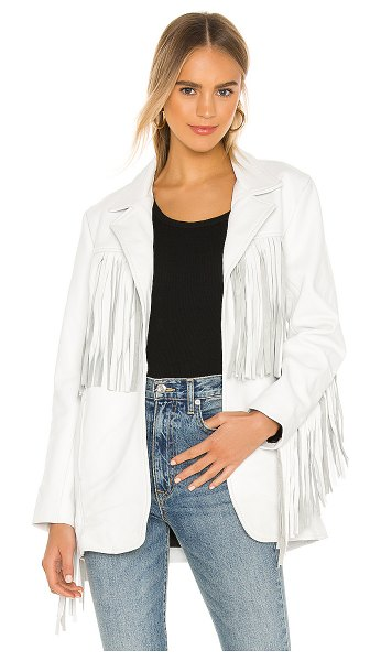 Understated Leather Ultimate x revolve buttercup blazer in white