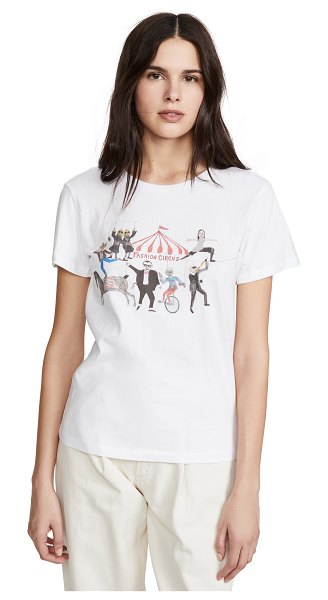 Unfortunate Portrait fashion circus tee in white
