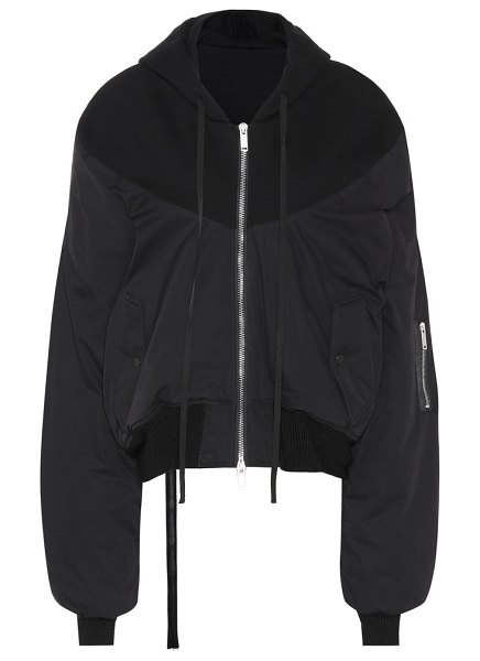 Unravel bomber jacket in black