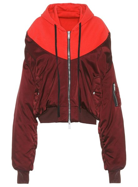 Unravel bomber jacket in red