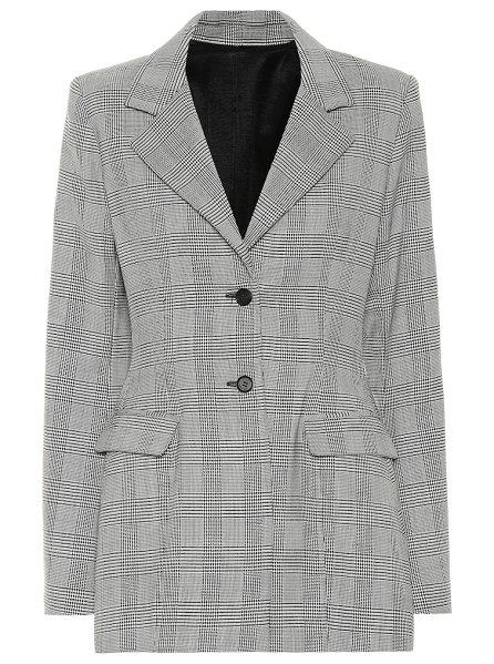 Unravel check wool-blend blazer in grey