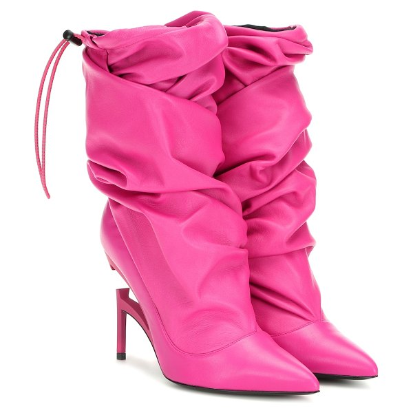 Unravel Leather ankle boots in pink - These boots from Unravel have been crafted in Italy from...