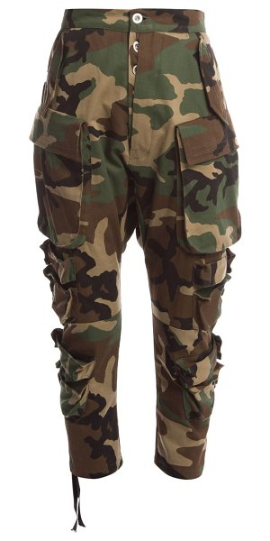 Unravel Project camo cotton cropped cargo pants in camo