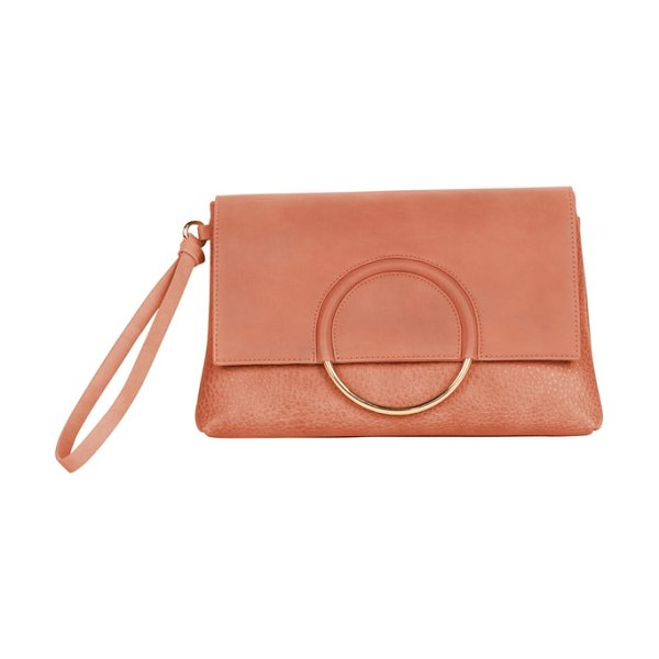 Urban Originals custom vegan leather wristlet clutch in rose pink