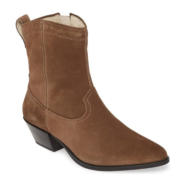 VAGABOND SHOEMAKERS emily bootie in taupe suede