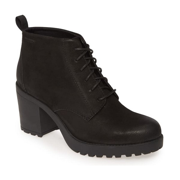 VAGABOND SHOEMAKERS grace bootie in black nubuck leather