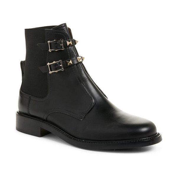 Valentino beatle rockstud ankle boot in black