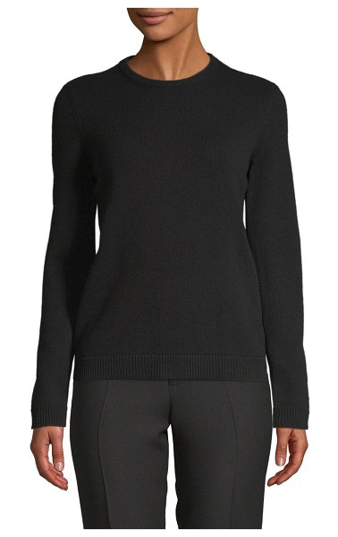 Valentino Classic Long-Sleeve Sweater in nero