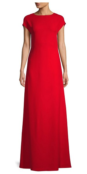 Valentino Cutout Bow Silk Gown in rosso